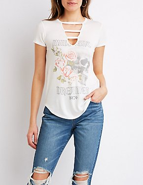 Caged Floral Graphic Tee