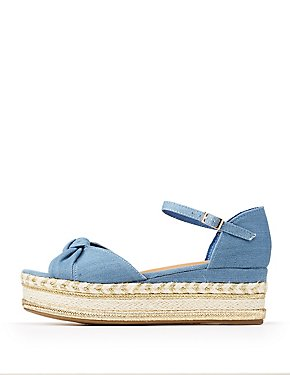 Bamboo Ankle Strap Espadrille Sandals