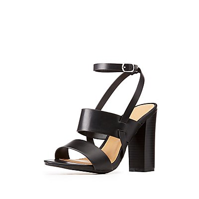 Bamboo Open Toe Ankle Strap Sandals