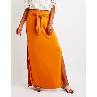 Wrap Tie Maxi Skirt