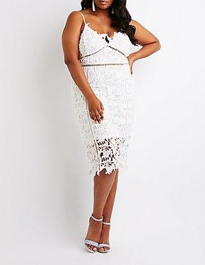 Plus Size Crochet Midi Dress