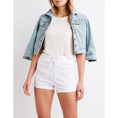 Lace Up Shorts by Charlotte Russe