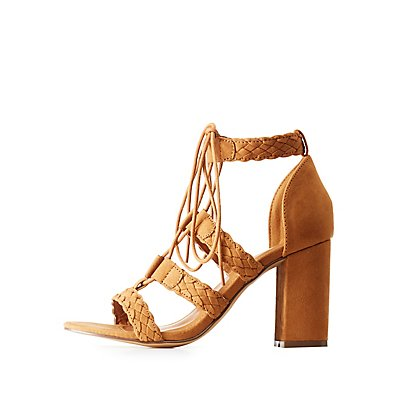 Braided Lace Up Sandals