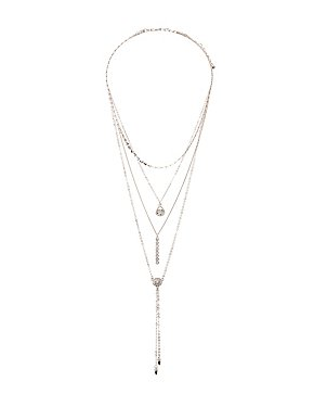 Crystal Bar Layering Neckalces