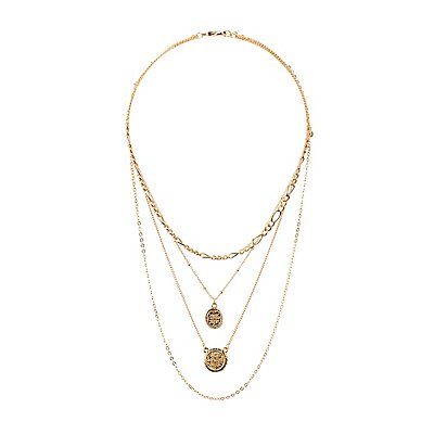 Coin Penant Layering Necklaces