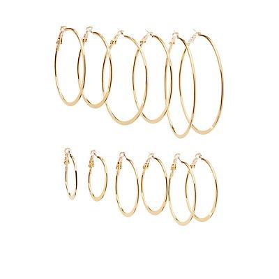 Cascading Hoop earrings - 6 Pack