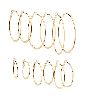 Cascading Hoop earrings - 6 Pack