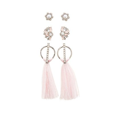 Pave Crystal Stud & Drop Earrings