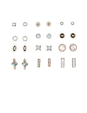 Stud Earrings - 12 Pack