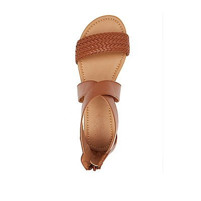 Braided Crisscross Flat Sandals