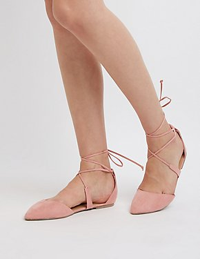 Lace Up D'Orsay Flats