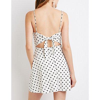 Polka Dot Tie-Back Skater Dress