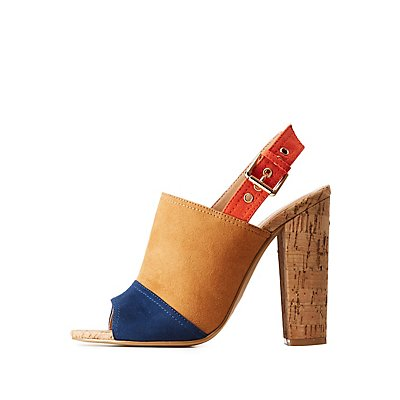 Cork Mule Sandals by Charlotte Russe