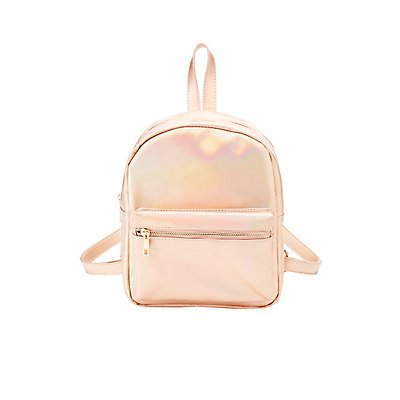 Holographic Faux Leather Backpack by Charlotte Russe