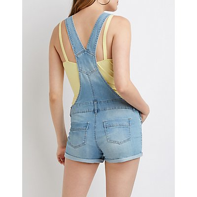 Destroyed Denim Shortalls