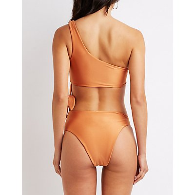 One Shoulder Side-Tie Bathing Suit