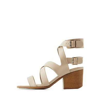 Qupid Caged Open Toe Sandals
