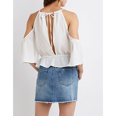 Bib Neck Open Back Top