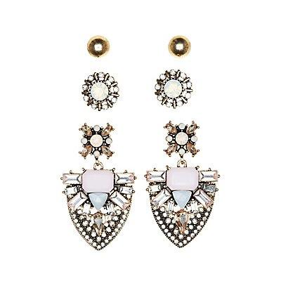 Stud & Drop Earrings - 3 Pack