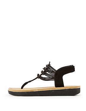 Bamboo Caged T-Strap Sandals