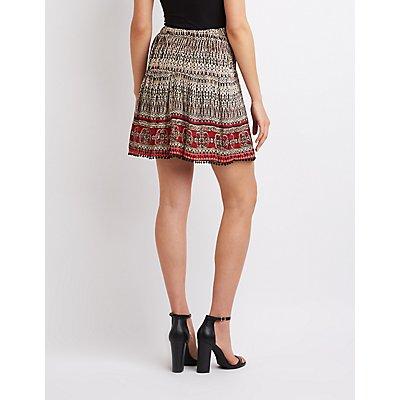 Printed Skater Skirt