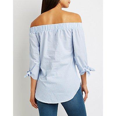 Striped Off-The-Shoulder Top