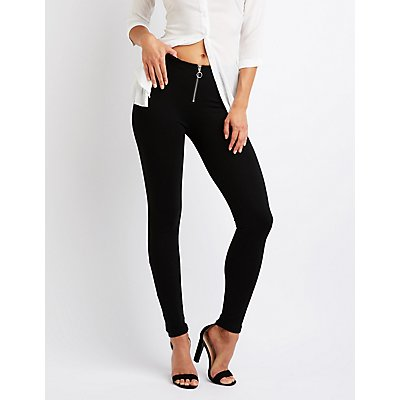 Zip Up Leggings by Charlotte Russe