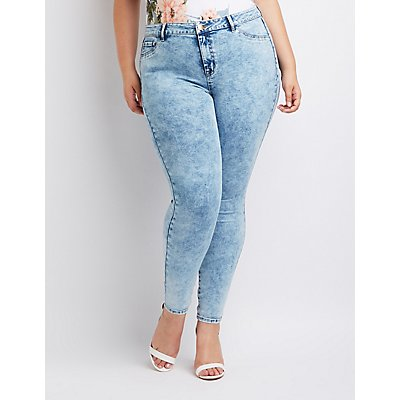 Plus Size Refuge Skin Tight Legging Jeans