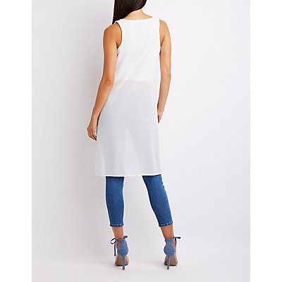 Side Slit Tunic Tank Top