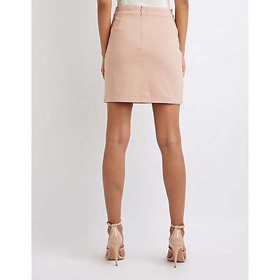 Lace Up Bodycon Skirt