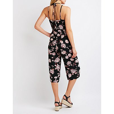 Floral Cut Out Jumpsuit