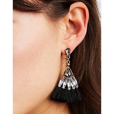 Rhinestone & Tassel Earrings - 3 Pack