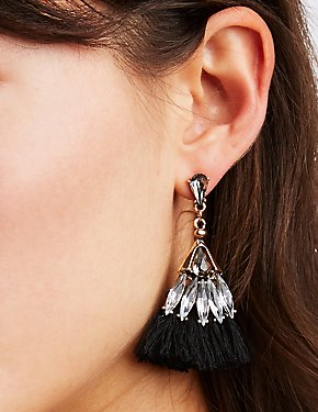 Rhinestone & Tassel Earrings - 3 Pack