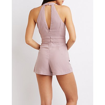 Mock Neck Skort Romper