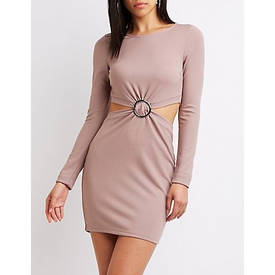 O-Ring Cut-Out Bodycon Dress
