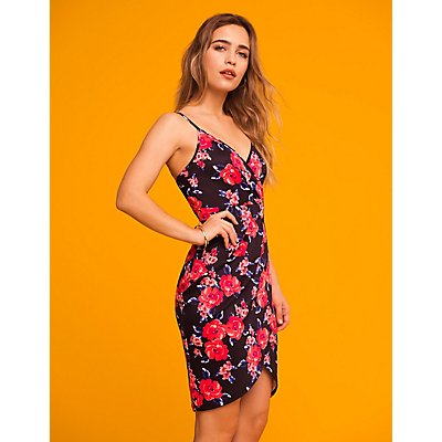 Floral Tulip Bodycon Dress