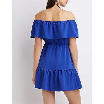 Ruffle Off-The-Shoulder Dress