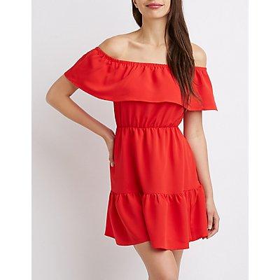 Ruffle Off-The-Shoulder Dress