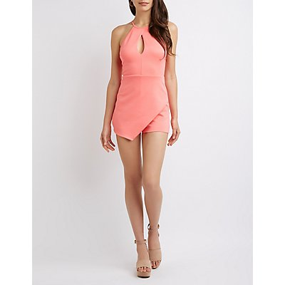 Bib Neck Cut Out Romper