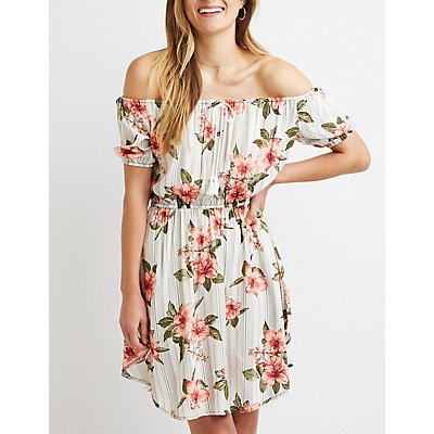 Floral Off-The-Shoulder Shift Dress