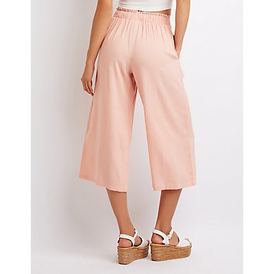 Lace-Up Front Culottes