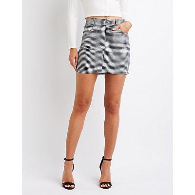 Gingham A-Line Mini Skirt