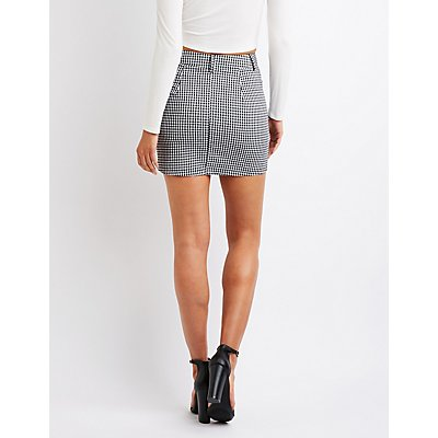 Gingham A-Line Mini Skirt