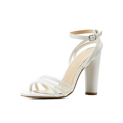 Ankle Wrap Block Heel Sandals
