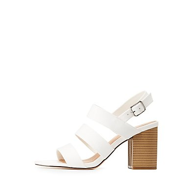 Caged Block Heel Sandals