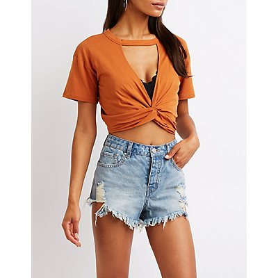 Twist Front Cut Out Tee