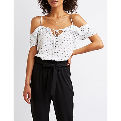 Keyhole Cold Shoulder Top