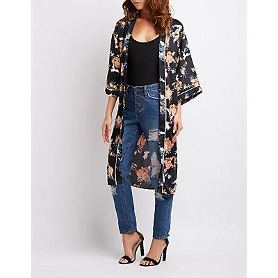 Floral Longline Kimono