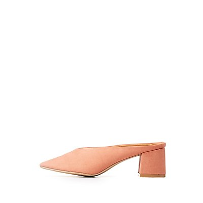 Qupid Block Heel Mules