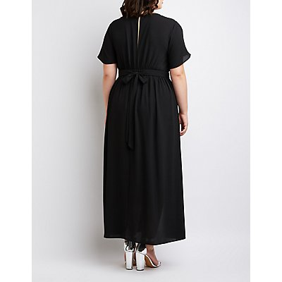 Plus Size V-Neck Maxi Romper
